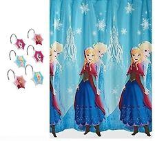 New Frozen Bathroom Set Fabric Shower Curtain & Hooks Anna Elsa