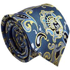 Bebé azul cachemir hombre Corbata de Seda Boda Baile de graduación Formal Hombres Corbata de oficina de negocios