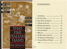 That Fine Italian Hand by Hofmann, Paul