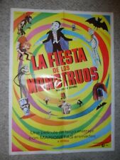 Mad Monster Party ORIGINAL 1968 MEXICAN 27x36 POSTER More Colorful Than USA Vers