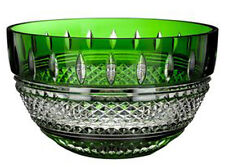 "Waterford Irish Lace 10"" Bowl Emerald Green Cased & Clear Crystal #40001471"