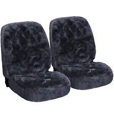 2 x Lammfellbezug Vollbezug Sitzbezug für Auto / PKW echt Lammfell AS7334gr-2