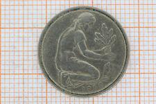 """50 Pfennig """"Bank dt. Länder"""" G, Karlsruhe 1950 BRD , kl. Kratzer, winz. Randfeh"""