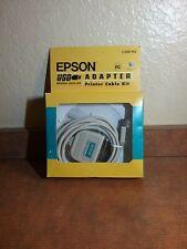 NOS EPSON USB/Parallel Adapter Cable Kit–USB Printer Apple iMac OS & Windows 98