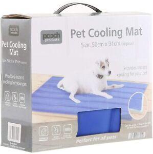 PET SELF COOLING COOL GEL MAT PET DOG CAT HEAT RELIEF NON-TOXIC SUMMER 91 X 51CM
