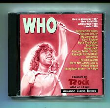 WHO#LIVE IN MONTEREY-NEW YORK-AMSTERDAM-LEEDS 1967 1968 1969 1970#Curcio#CD Rock