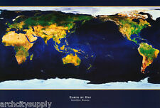 POSTER : NATURE : EARTH BY DAY - SATELLITE MOSAIC - FREE SHIP  #ST3122  RAP134 B