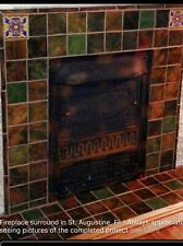 Craftsman Fireplace or Kitchen Tile By Cottage Craft Tile 4x4 34 Pc Case