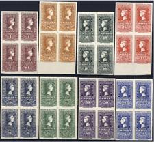 Bloque de Cuatro Centenario del Sello Español 1075/1082 año 1950 sellos nuevos