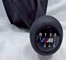BMW OEM E46 M3 2001-2006 Illuminated M Emblem Shift Knob Walk Nappa Leather OEM