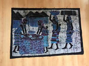 Vintage African Batik Wall Art
