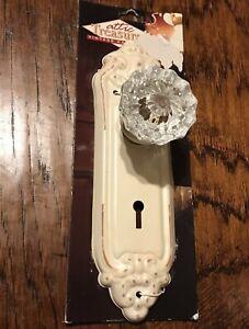 Vintage Metal Glass Door Knob Fake Decor Only Crafting Restoration Skeleton Key