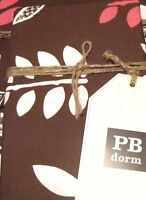 POTTERY BARN DORM Leaflet Sham Standard Pillow 26x20 Brown Pink White Organic