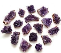 Amethyst Uruguay Purple Geode small rough cluster Crystal 1-2inch - Grade AA
