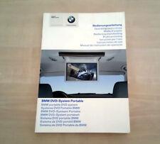 BMW DVD System Portable Libretto Uso e Manutezione 2005 Multilingua