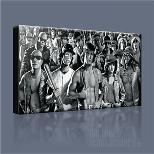 THE WARRIORS VINTAGE GANG WARFARE ICONIC CANVAS ART PRINT PICTURE Art Williams