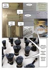 100 PALITOS - EJES CORONAS (aceros-plásticos-carbono).