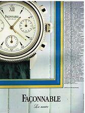 Publicité Advertising 1991 La Montre Faconnable