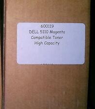 Dell 5110 Magenta Toner - HIGH Capacity Compatible Toner - Pt No 600119  Sealed