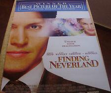FINDING NEVERLAND unfolded poster, Double Sheet, 2004, Miramax Films,Johnny Depp