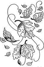 Unmounted Rubber Stamp, Floral Stamps, Trees, Falling Leaves, Leaf Stamps Nature