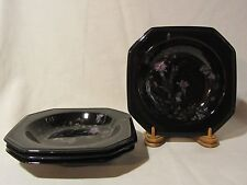 "Mikasa Color Trend DR701 ""Ebony Meadow"" Rimmed Soup/Salad Bowls - Set of 4"