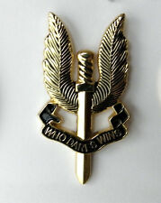 S.A.S. WHO DARES WINS SPECIAL AIR SERVICE BRITISH SAS PARA WINGS BADGE PIN 1.75""