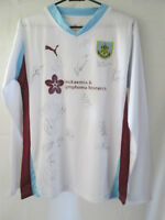 Burnley Fc Away 2010-2011 Squad Signed Football Shirt with our COA /11391