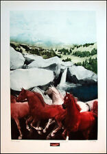 G H Rothe Manitou Deluxe Remarque Art Hand Signed Horses 1986 Limited Edition