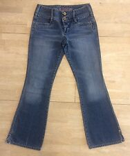 Vintage Silver Jeans Women's Size 28 Canada Denim Button Fly Zip Straight Boot