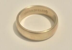 Early Vintage JD Schlang Designer Signed 10K Gold Filled Men's Ring Wedding Band