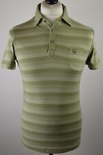 Trendy men's Diesel pastel green stripe short sleeved slim fit polo shirt medium