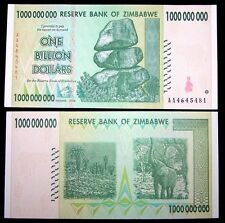 1 x Zimbabwe 1 Billion Dollar banknote-paper money currency-About UNC