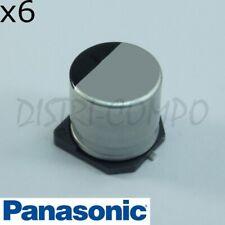 Condensateur 100µF 35V 105° SMD Panasonic série FK 7.7x6.3mm (lot de 6)