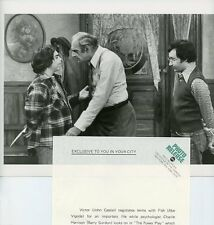 ABE VIGODA JOHN CASSISI BARRY GORDON FISH TV SHOW ORIGINAL 1977 ABC TV PHOTO
