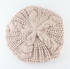 Women Fashion Pure Color Winter Slouch Ski Crochet Knit Slouchy Beanie Beret Hat