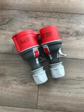 Red 415V 3 phase trailing plug & socket 4-5 pin , 16A-32A - VAT INC.