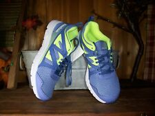 REEBOK GIRLS ATHLETIC SHOES SIZE 1.5 M GREEN PURPLE CASUAL SCHOOL SHOES SPORTS