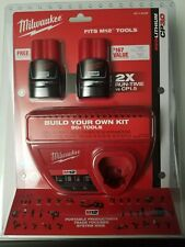 MILWAUKEE 48-11-2432P M12 12 VOLT RED LITHIUM CP3.0 BATTERY CHARGER STARTER KIT