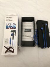 Sony MDR-XB50AP - Headphones Earbuds MDRXB50AP BLUE Extra Bass-FAST SHIPPING