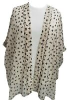 Ladies Plus Size Floaty Open Front Cardigan Jacket Embosed Beige size16 to 34/36