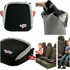 BubbleBum Travel Booster Car Seat Foldable Portable Inflatable Black Backless