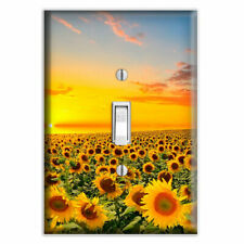 Sunflower Sunset Decorative Single Toggle Light Switch Cover - Switch Plate
