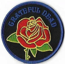 Grateful Dead Rose with Logo Embroidered Patch / Iron On Applique
