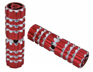 """BICYCLE 661 ALLOY PEGS 24/26T RED 4-1/2""""L x 1.10W CRUISER LOWRIDER BMX"""