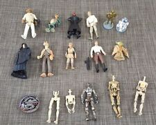 LOT OF 12 plus Star Wars Action Figures and parts