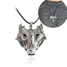 Wolf Head Pendant Fashion Norse Vikings Necklace Men gift Luck Jewelry Animal