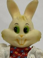 Vintage Bunny Rabbit Plastic Doll Easter Coin Bank Decorative