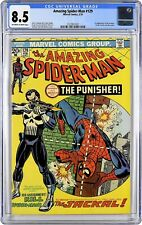 The Amazing Spider-Man #129 CGC 8.5 OW/W 1st Appearance Punisher and Jackal!