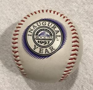 VTG 1993 COLORADO ROCKIES INAUGURAL YEAR MILE HIGH STADIUM BASEBALL BALL
